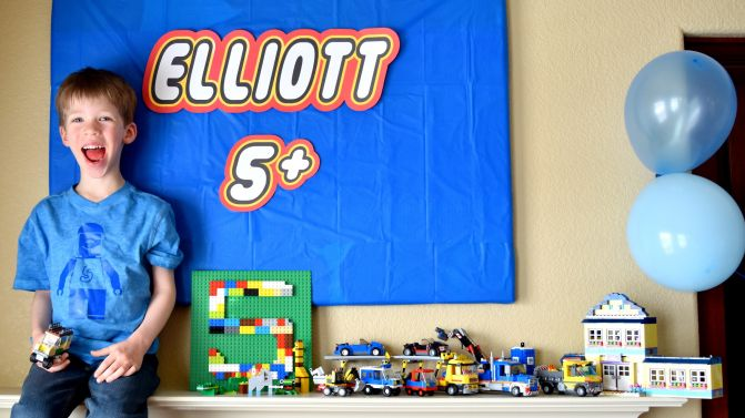 Elliott's 5th Lego Birthday!