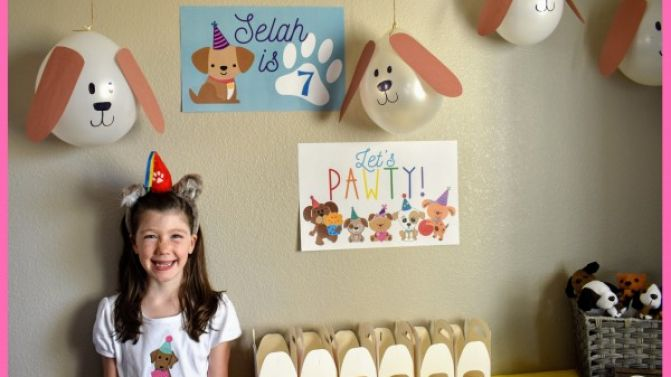 Selah is 7! Let's Paw-ty!!